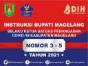 INSTRUKSI BUPATI MAGELANG NOMOR 3 - 5 TAHUN 2021